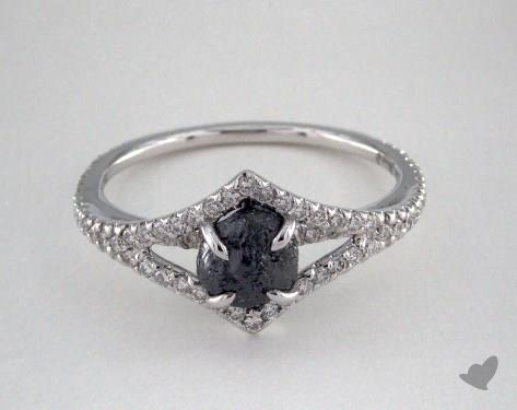 "18K White Gold 1.26ct diamond ""Victorian ring"" featuring 0.35ctw in MicroPave diamonds"