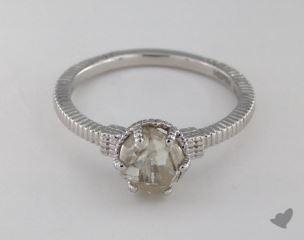 "18K White Gold 1.47ct diamond ""Nouveau ring"" featuring 0.00ctw in MicroPave diamonds"