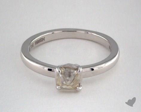 """18K White Gold 1.00ct diamond """"Moderne ring"""" featuring 0.00ctw in MicroPave diamonds"""