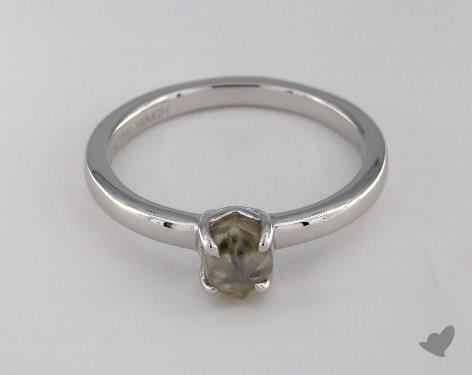 """18K White Gold 1.03ct diamond """"Moderne ring"""" featuring 0.00ctw in MicroPave diamonds"""