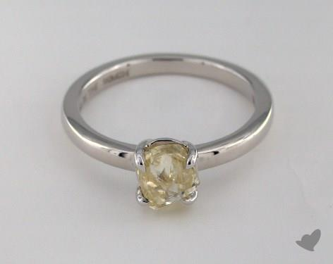"""18K White Gold 1.23ct diamond """"Moderne ring"""" featuring 0.00ctw in MicroPave diamonds"""