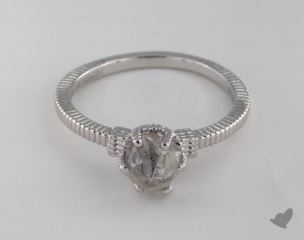 "18K White Gold 1.57ct diamond ""Nouveau ring"" featuring 0.00ctw in MicroPave diamonds"