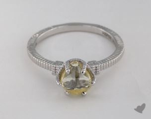 "18K White Gold 2.03ct diamond ""Nouveau ring"" featuring 0.00ctw in MicroPave diamonds"