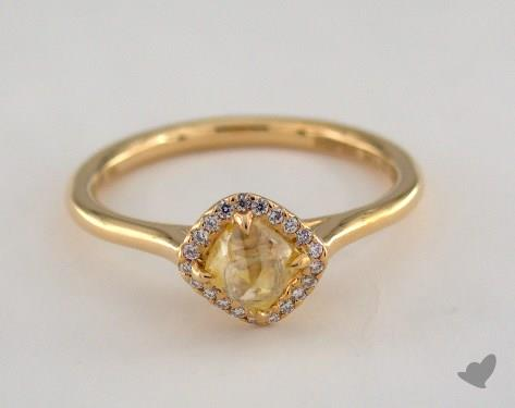"18K Yellow Gold 0.93ct diamond ""Grace ring"" featuring 0.07ctw in MicroPave diamonds"