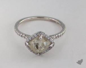 "18K White Gold 2.84ct diamond ""Classic ring"" featuring 0.39ctw in MicroPave diamonds"