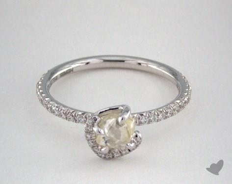 "18K White Gold 0.87ct diamond ""Champagne Bubble ring"" featuring 0.33ctw in MicroPave diamonds"