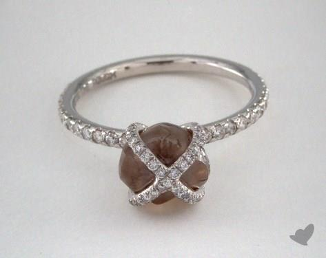 """18K White Gold 3.51ct diamond """"Embrace ring"""" featuring 0.40ctw in MicroPave diamonds"""