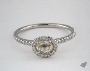 "Platinum 0.61ct diamond ""Classic ring"" featuring 0.29ctw in MicroPave diamonds"