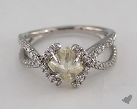 "Platinum 1.70ct diamond ""Unity ring"" featuring 0.40ctw in MicroPave diamonds"