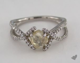 "Platinum 1.46ct diamond ""Unity ring"" featuring 0.38ctw in MicroPave diamonds"