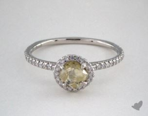"Platinum 0.81ct diamond ""Classic ring"" featuring 0.31ctw in MicroPave diamonds"