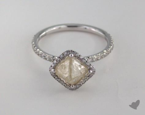 "18K White Gold 2.05ct diamond ""Covet ring"" featuring 0.33ctw in MicroPave diamonds"
