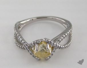 "Platinum 1.68ct diamond ""Unity ring"" featuring 0.34ctw in MicroPave diamonds"