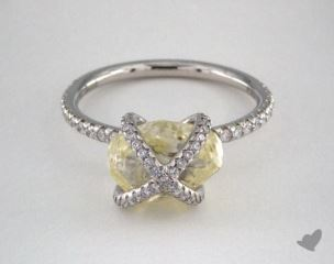 "Platinum 4.30ct diamond ""Embrace ring"" featuring 0.42ctw in MicroPave diamonds"
