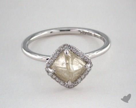 "18K White Gold 1.99ct diamond ""Covet ring"" featuring 0.08ctw in MicroPave diamonds"