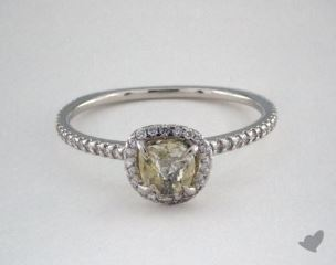 "Platinum 0.85ct diamond ""Classic ring"" featuring 0.26ctw in MicroPave diamonds"