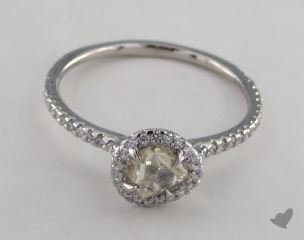 "Platinum 0.89ct diamond ""Classic ring"" featuring 0.30ctw in MicroPave diamonds"