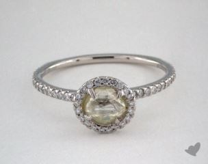 "Platinum 0.74ct diamond ""Classic ring"" featuring 0.30ctw in MicroPave diamonds"