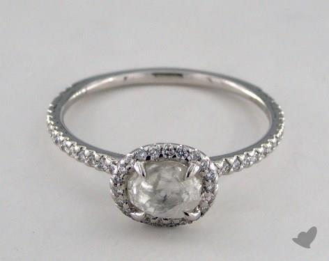 "Platinum 1.00ct diamond ""Classic ring"" featuring 0.32ctw in MicroPave diamonds"