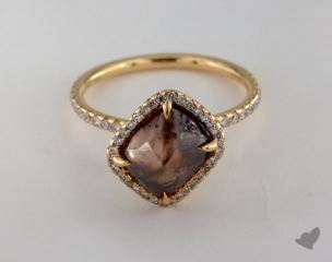 "18K Yellow Gold 3.90ct diamond ""Covet ring"" featuring 0.37ctw in MicroPave diamonds"