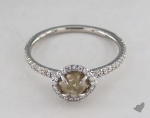 "Platinum 1.05ct diamond ""Classic ring"" featuring 0.25ctw in MicroPave diamonds"