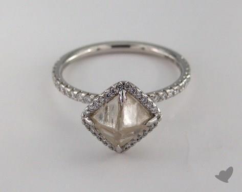 "Platinum 2.39ct diamond ""Covet ring"" featuring 0.34ctw in MicroPave diamonds"