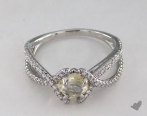 "Platinum 1.01ct diamond ""Unity ring"" featuring 0.36ctw in MicroPave diamonds"