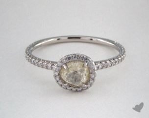 "Platinum 0.76ct diamond ""Classic ring"" featuring 0.30ctw in MicroPave diamonds"