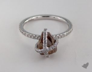 "18K White Gold 2.92ct diamond ""Embrace ring"" featuring 0.39ctw in MicroPave diamonds"