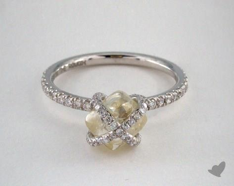 "18K White Gold 2.78ct diamond ""Embrace ring"" featuring 0.39ctw in MicroPave diamonds"