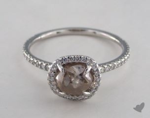 "Platinum 2.08ct diamond ""Classic ring"" featuring 0.32ctw in MicroPave diamonds"