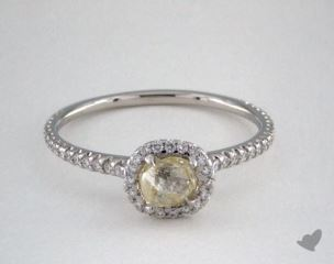 "Platinum 0.67ct diamond ""Classic ring"" featuring 0.24ctw in MicroPave diamonds"