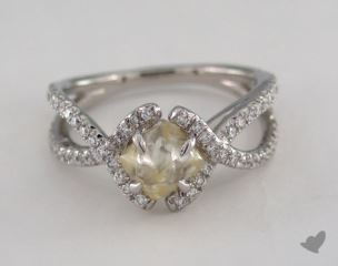 "Platinum 1.60ct diamond ""Unity ring"" featuring 0.41ctw in MicroPave diamonds"