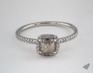 "Platinum 0.78ct diamond ""Classic ring"" featuring 0.25ctw in MicroPave diamonds"