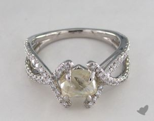 "Platinum 1.71ct diamond ""Unity ring"" featuring 0.41ctw in MicroPave diamonds"
