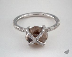 "18K White Gold 3.78ct diamond ""Embrace ring"" featuring 0.36ctw in MicroPave diamonds"