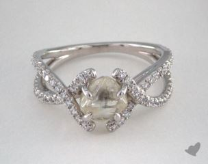 "Platinum 1.98ct diamond ""Unity ring"" featuring 0.41ctw in MicroPave diamonds"