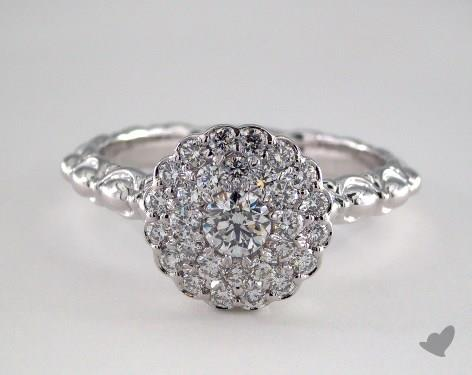 Royal Scallop Halo Diamond Engagement Ring