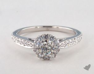 Royal Halo Classic Cathedral Engagement Ring