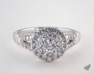 Royal Halo Split Shank Pave Engagement Ring
