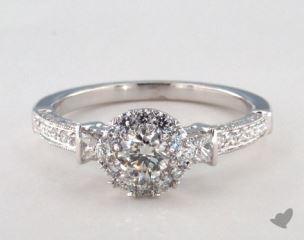 Royal Halo Princess and Pave Engagement Ring