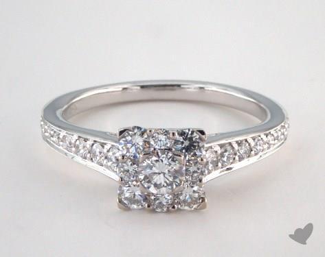 Royal Halo Inspired Princess Shape Engagement Ring