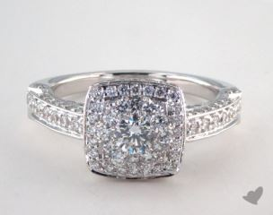 Royal Halo Rollover Cushion Shape Engagement Ring