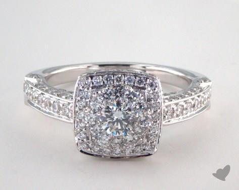 Royal Halo Rollover Cushion Shape Engagement Ring