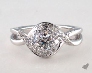 Royal Halo Bypass Swirl Engagement Ring
