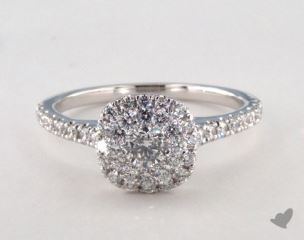 Royal Halo Classic Cushion Shape Engagement Ring