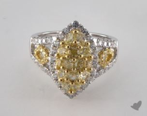 18K White & Yellow NULLctw Mixed Yellow & White Diamond Ring