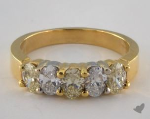 14k Two Tone Gold 1.08ctw Oval Yellow & White Diamond Ring