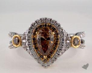 18K White & Yellow 1.22ctw Pear Champagn Diamond Ring