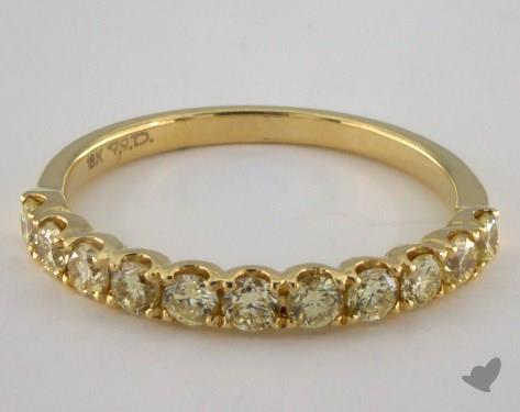 18K Yellow Gold Prong Set Yellow Diamond Ring
